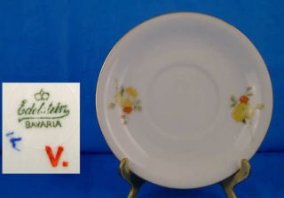 EDELSTEIN BAVARIA #1389 YELLOW ROSES SAUCER(s) CHINA