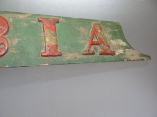 antique wooden signs in Advertising