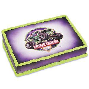 Monser Jam Grave Digger Edible Cake Image Deco Cake opper