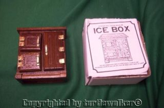 Dollhouse Miniature Wooden Ice Box
