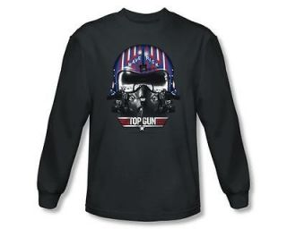 Licensed Top Gun Movie Maverick Helmet Tom Cruise Long Sleeve Tee