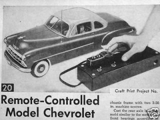 Remote Control led 1952 CHEVROLET Model car plans