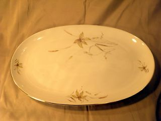 Vintage EDELSTEIN BAVARIA China OVAL serving PLATTER in AURORA