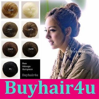 New KOREA JAPAN Woman chignon Hairpieces Updo Clip on Bun Hair Piece