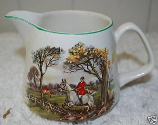 LORD NELSON POTTERY PITCHER JUG FOX HUNT HOUNDS ENGLAND