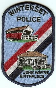 Newly listed WINTERSET IOWA POLICE PATCH JOHN WAYNE BIRTHPLACE