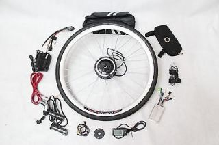 48V 350W Front Wheel Electric Bicycle Conversion Kits with LCD Display