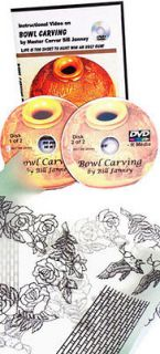 Bowl Carving with Master Carver Bill Janney (2 DVDs)/wood carving