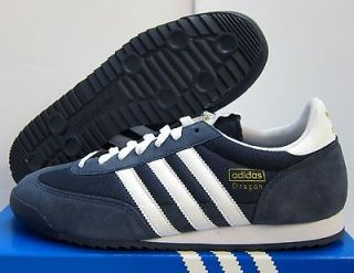 NEW MENS ADIDAS ORIGINALS DRAGON [G50919] NAVY WHITE MET GOLD