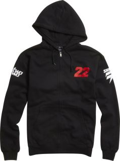 MX Chad Reed Two Two Motorsport Hoody Black Hooded Zip Up No Sponsors
