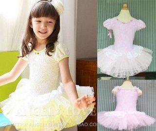Girls Kids Party Fairy Ballet Dance Tutu Skirt Skate Dress 3 9Y