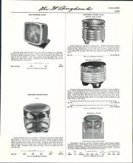 1950   53 AD Robbins & Myers GE General Electric Fans Oscillating