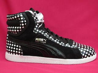 WOMENS GIRLS HIP HOP PUMA FIRST ROUND POLKA LEATHER TRAINERS BOOTS