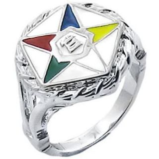 Silver Overlay Ladies Order of Eastern Star Ring Sizes 5 11