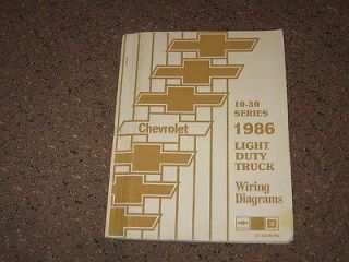 1986 86 CHEVY GMC TRUCK OEM WIRING DIAGRAM MANUAL 73 87