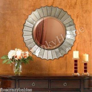 Large 32 VENETIAN SUNBURST Wall Vanity Mirror Round