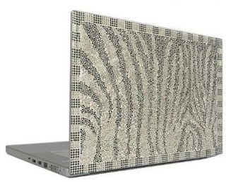 Zebra 12.1 Crystal Rhinestone Bling Laptop Sticker Sheet Cover Skin