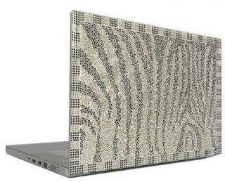 Zebra 12.1 Crystal Rhinestone Bling Laptop Sticker Sheet Cover Skin