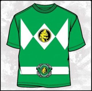 Mighty Morphin Power Rangers Green Costume T Shirt