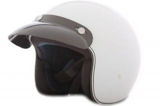 Open Face 3/4 DOT Helmet   Motorcycle Scooter Moped White XS   XXL