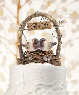 Personalized LOVE NEST Love Birds in Archway Whimsical Wedding Cake