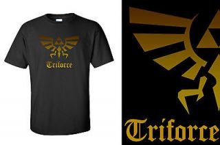 Zelda the Legend of Zelda Triforce logo in Gold Mens T Shirt , Tee