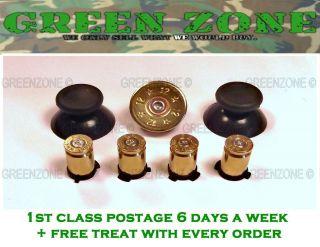 Custom Xbox 360 Controller Bullet Button In Brass + Shotty d pad
