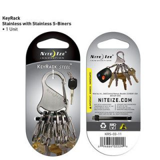 KEY RACK KEYCHAIN KEYCHAIN KEY RING CARABINER & 6 S BINER STEEL CLIPS