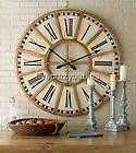 Extra Large 31 White GOLD Train Station Wall Clock  Iron