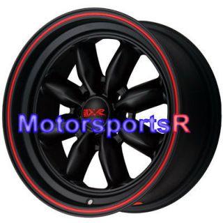 16 16x7 XXR 513 Black Red Deep Dish Lip Wheels Rims 87 Toyota Corolla