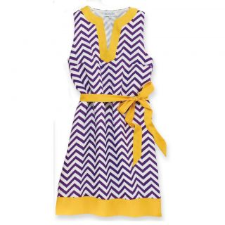 NEW Mud Pie Game Day Dress Purple & Gold S M L