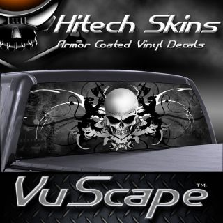 Vuscape Truck Rear Window Graphic   SKULL CREST
