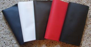 VINYL CHECKBOOK COVER YOUR CHOICE RED, WHITE, BLUE, BROWN OR BLACK