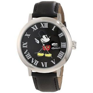 INGERSOLL IND26097 DISNEY CLASSIC MICKEY MOUSE GRAPHIC BLACK LEATHER