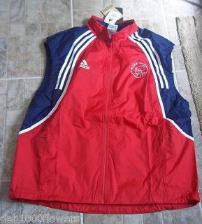 BNWT XXL MENS 46 48 CHEST ADIDAS AJAX W/PROOF S/LESS LIGHTWEIGHT GILET