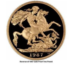 United Kingdom Two Pound Gold Proof Coin from the Royal Mint with Cof
