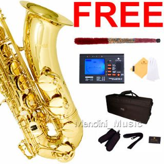 Newly listed MENDINI GOLD LACQUER TENOR SAXOPHONE SAX W/ TUNER,CASE