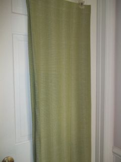 NEWBURY FABRIC SHOWER CURTAIN SAGE GREEN & WHITE TEXTURED FABRIC