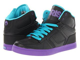 Osiris NYC83 VLC NYC 83 Vulc Vulcanized Black Purple Teal Hi High Top
