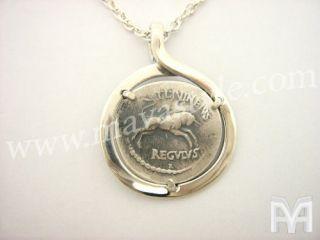 925 Silver Antique Coin Replica Julius Caesar Pendant