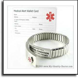Medical Alert Emergency Telephone Mobile Number Bracelet Choice