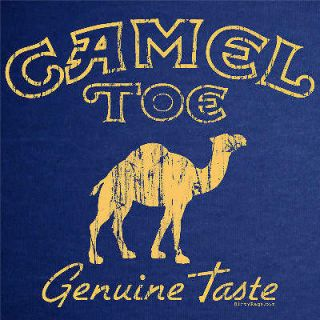 CAMEL TOE funny dirty punk towing T Shirt vintage NAVY
