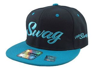 NEW VINTAGE SWAG FLAT BILL SNAPBACK BASEBALL CAP HAT BLACK/YELLOW