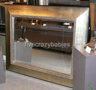 Oversize 50 Extra Large Silver Leaf Wall Floor Mirror Mantle Designer