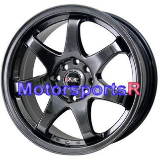15 15x7 XXR 522 Chromium Black Concave Rims Wheels 06 12 Honda Fit 93