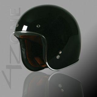 Torc T 50HF Route 66 Sparkle Black 3/4 Open Face Motorcycle Helmet W