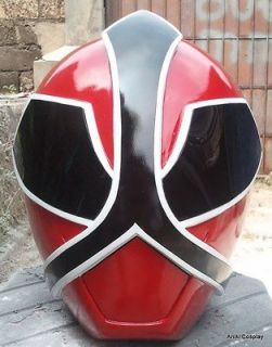 Cosplay Morphin Power Rangers RED SAMURAI Ranger 1/1 Scale Helmet