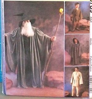 MCCALLS Costume Pattern #3789 Size S XL MENS *WITCHES & WIZARDS* LOTR