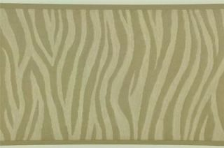 Wallpaper Border shiny beige zebra prints US004104B
