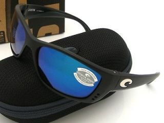 NEW Costa Del Mar Sunglasses Blackout Fisch,Frames with Blue 580G Lens